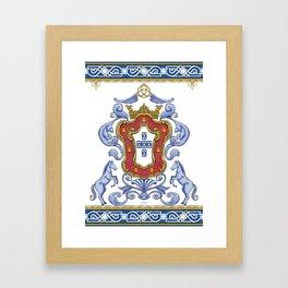 Portuguese Crest Framed Art Print