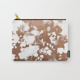 Rose Gold shiny metal sparkle modern pattern abstract rosegold trendy pattern cell phone accessories Carry-All Pouch