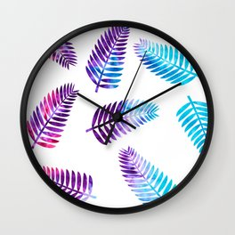 Ice-Dyed Palms Wall Clock