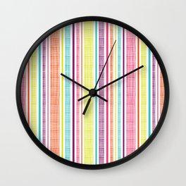 Textured Stripes Wall Clock