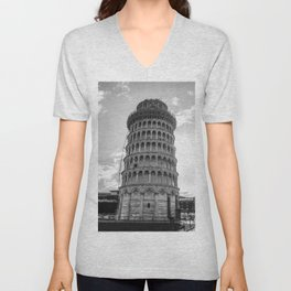 Leaning Tower of Pisa Unisex V-Neck