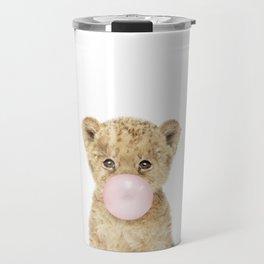 Bubble Gum Lion Cub Travel Mug