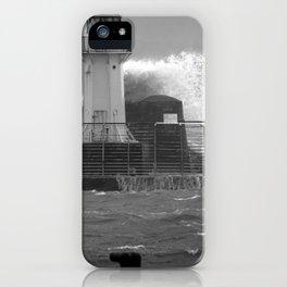 Ardrossan Lighthouse Versus the Sea iPhone Case