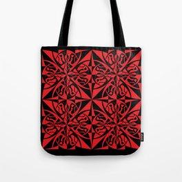 Think Tiled - Black Red Tote Bag