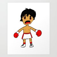 rocky Art Prints featuring ROCKY by Christophe Chiozzi