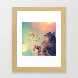 Dancing Kitty Cat Framed Art Print