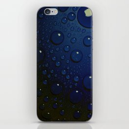 Midnight Blue to Stars in Droplets Polka Dots iPhone Skin