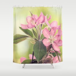 Pink Spring Modern Cottage Chic Flowers Art A460 Shower Curtain