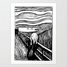 THE SCREAM - EDVARD MUNCH - LITHOGRAPH Kunstdrucke