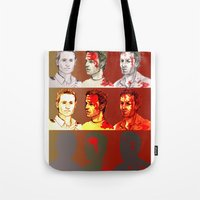 rick grimes Tote Bags featuring Rick Grimes by Zalazny