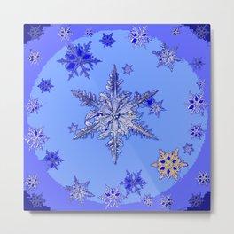 """BLUE SNOW ON SNOW"" BLUE WINTER ART Metal Print"
