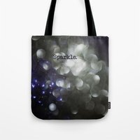 sparkle Tote Bags featuring sparkle by Bonnie Jakobsen-Martin