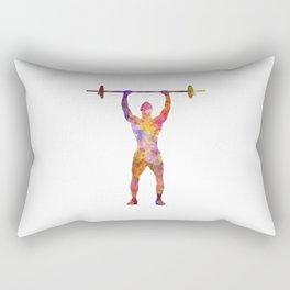body buiding man isolated Rectangular Pillow