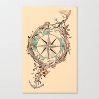 map Canvas Prints featuring Bon Voyage by Norman Duenas