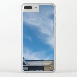 feather clouds Clear iPhone Case
