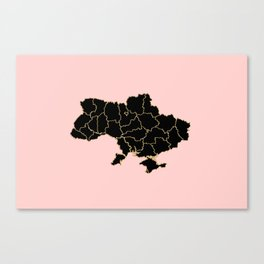 Ukraine map Canvas Print