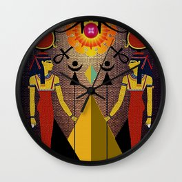 Hathor under the eyes of Ra -Egyptian Gods and Goddesses Wall Clock