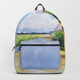 Windmill Pond Clouds Backpack