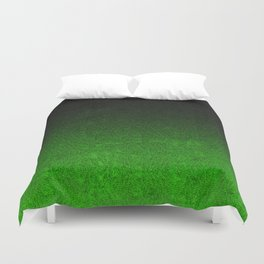 Green & Black Glitter Gradient Duvet Cover