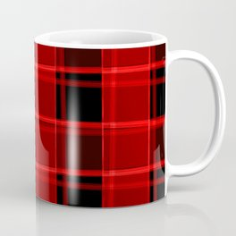 Bright intersections of light and bloody lines on a dark background. Coffee Mug