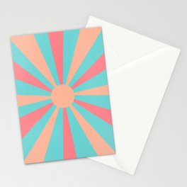 pink and peach sunshine Stationery Cards