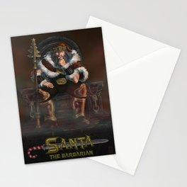 Santa the Barbarian Stationery Cards