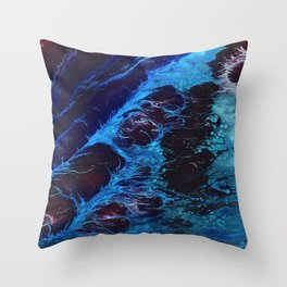 Cosmic Waves Throw Pillow