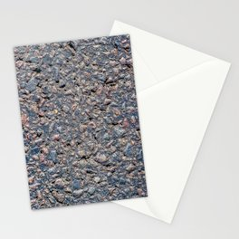 Asphalt and pebbles texture Stationery Cards