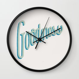 Fruit of the Spirit - Goodness, Hand lettered by Deb Jeffrey Wall Clock