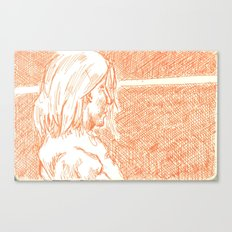 subway woman IX Canvas Print