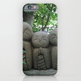 jizo in a peaceful garden iPhone Case