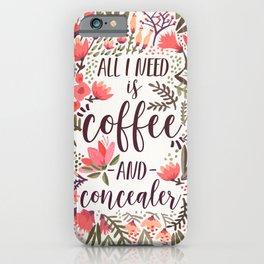 Coffee & Concealer – Vintage Palette iPhone Case