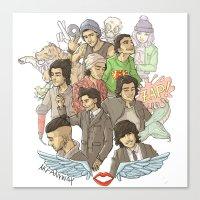zayn malik Canvas Prints featuring Zayn Malik by Aki-anyway