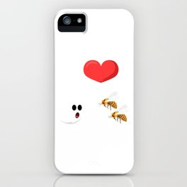 I Love Boo Halloween Shirt For October 31st T-shirt Design Spooky Bee Creepy Halloween Scary Ghost iPhone Case