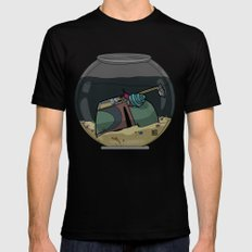 The Snail Conquers The Fett Black MEDIUM Mens Fitted Tee