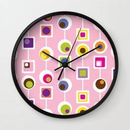 Mod Love Pink Wall Clock