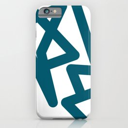 Teal Happiness iPhone Case