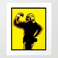 Pixelly Hogan Art Print