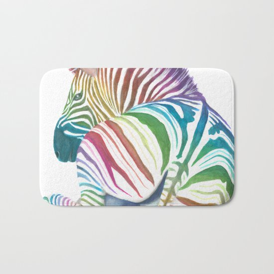 Rainbow Stripes Bath Mat