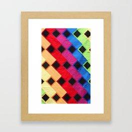 rainbow dance party Framed Art Print