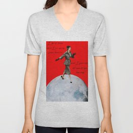 I Don't Know Where I'm Going, But I Promise it Won't Be Boring Collage Print Unisex V-Neck