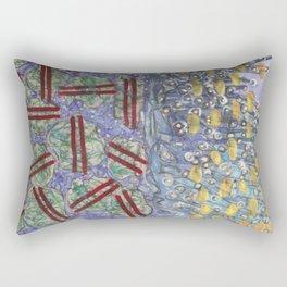 Glittering Underwater Life Rectangular Pillow