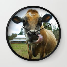 Eat Local Wall Clock
