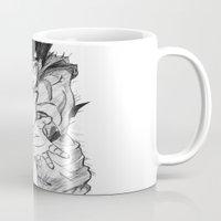 goku Mugs featuring Goku by DeMoose_Art