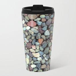 Rocks on Ground Color Photo Metal Travel Mug