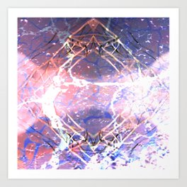 Abstract Ripple Reflection Art Print