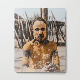 Karo Tribesman Metal Print