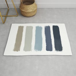 Blue & Taupe Stripes Rug