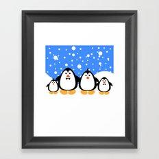 NGWINI - penguin family v3 Framed Art Print