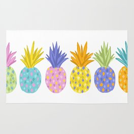 Colorful Pineapples Rug
